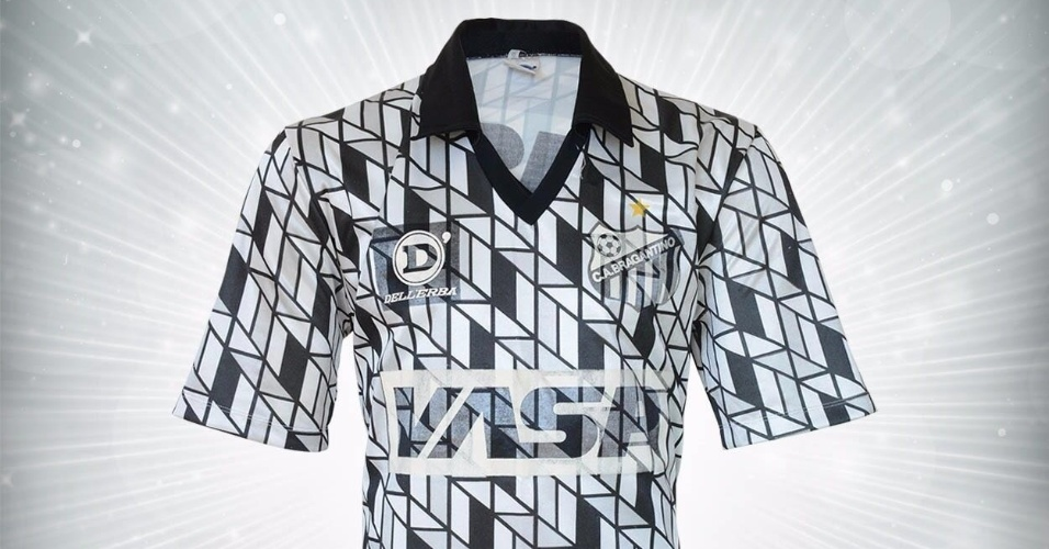 Camisa do Bragantino de 1991 utilizada por Biro Biro