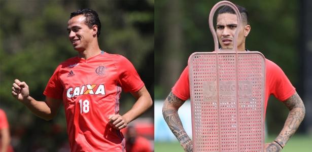 Leandro Damião (e) e Paolo Guerrero (d) encaram jejum de gols e problemas no Flamengo