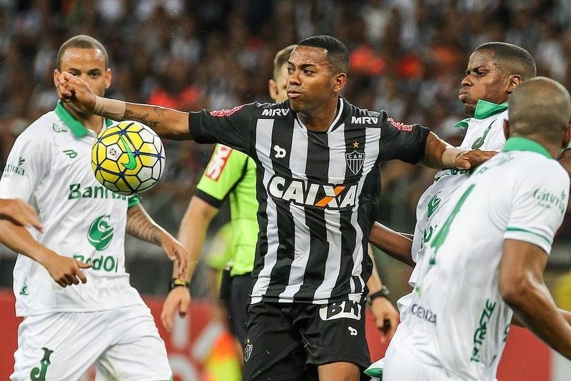 Com Robinho em campo, Atlético-MG vai ter força máxima contra o Juventude