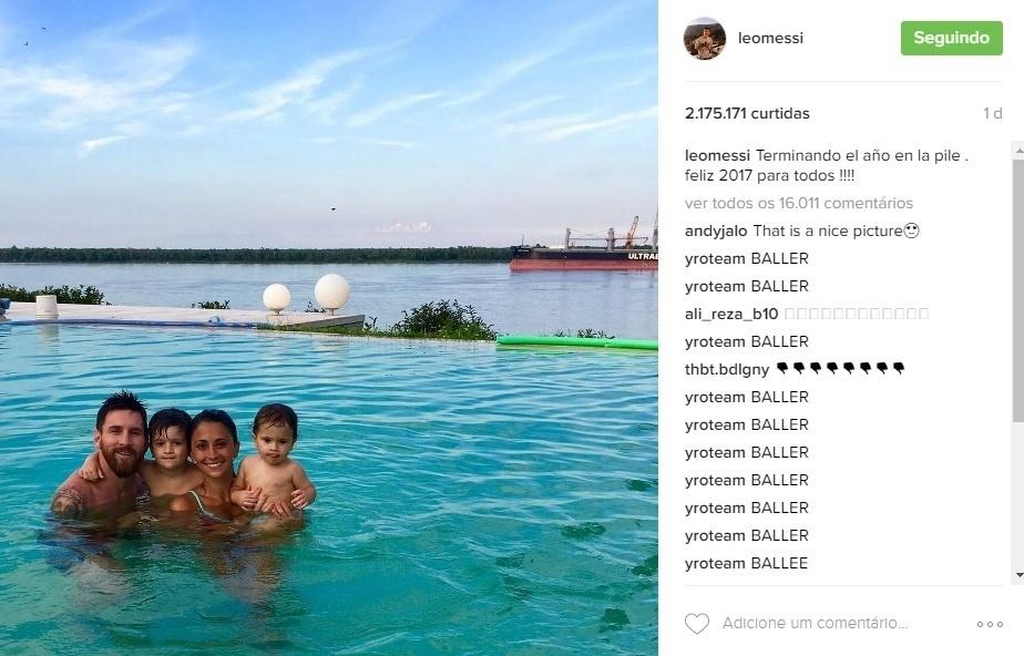 Lionel Messi e família em último dia de férias antes de jogador voltar ao Barcelona