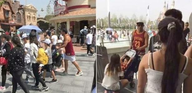 Tevez visita parque da Disney durante folga