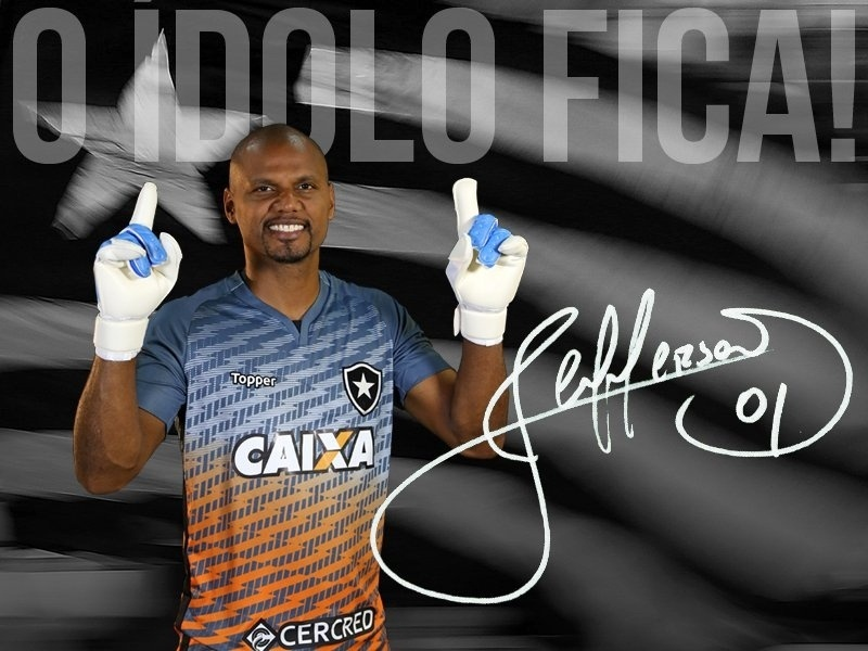 Botafogo anuncia renovação com goleiro Jefferson