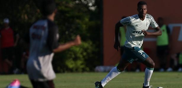 Pedrão, zagueiro do time sub-20 do Palmeiras