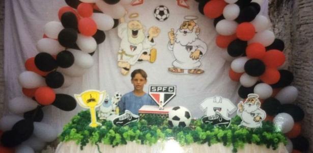 Rodrigo Caio, quando criança, teve até aniversário temático do São Paulo
