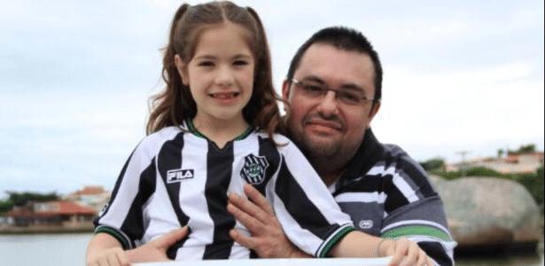 Ney Pacheco com a neta Rafaella - Arquivo pessoal