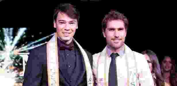 Aos 25 anos, o ex-goleiro Lucas Tavares (esquerda) concorreu a Mister Brasil USA - Acervo pessoal