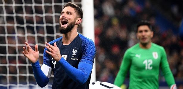 De pênalti, Giroud fez o único gol da partida no Stade de France - Franck Fife/AFP