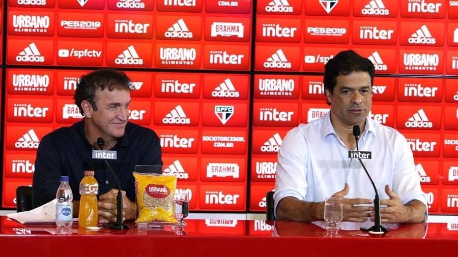 Cuca e Raí, diretor-executivo do São Paulo - Rubens Chiri/saopaulofc.net