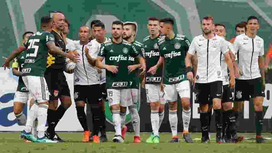 Confusão do Campeonato Paulista de 2018 foi marcada por muita confusão entre Palmeiras, arbitragem e Corinthians - THIAGO BERNARDES//ESTADÃO CONTEÚDO