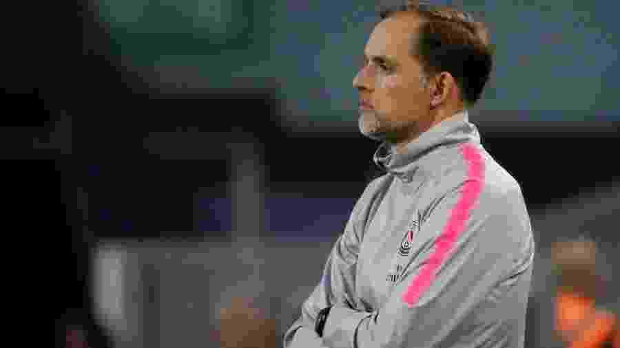 Thomas Tuchel, técnico do PSG  - Jean-Paul Pelissier/Reuters