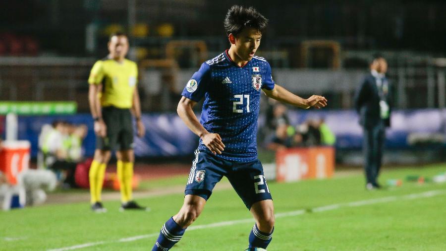 Kubo em ação na partida Chile e Japão, no Morumbi - Marcello Zambrana/AGIF