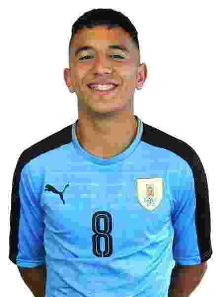 Cartagena é jogador da seleção sub-17 do Uruguai e do Nacional - Divulgação/AUF