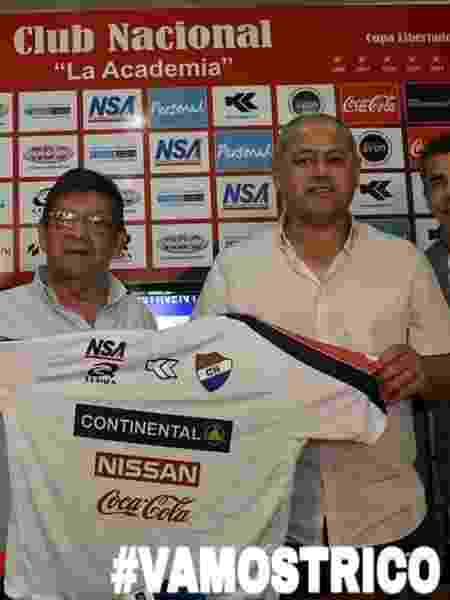 Arce foi apresentado como novo técnico do Nacional, do Paraguai - Divulgação/Nacional