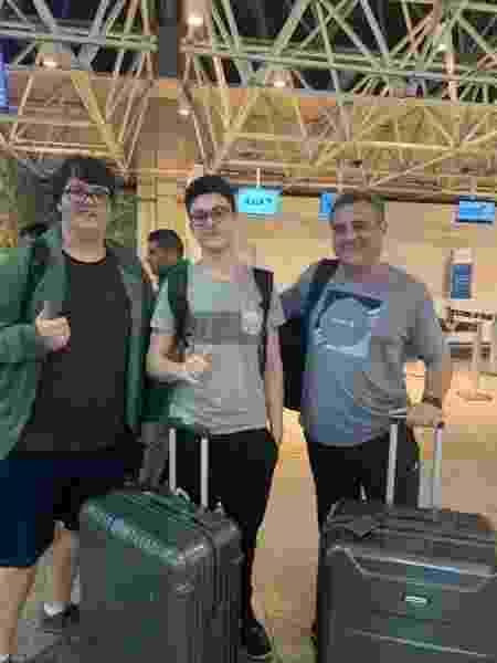 Gabriel, irmão de João, Arthur, e André ajudaram torcedor do Flamengo a 'driblar' deportação por final da Libertadores - Arquivo Pessoal - Arquivo Pessoal