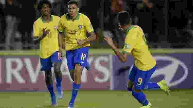 Diego Rosa comemora gol marcado pela seleção brasileira no Mundial sub-17 - Alexandre Loureiro/CBF - Alexandre Loureiro/CBF