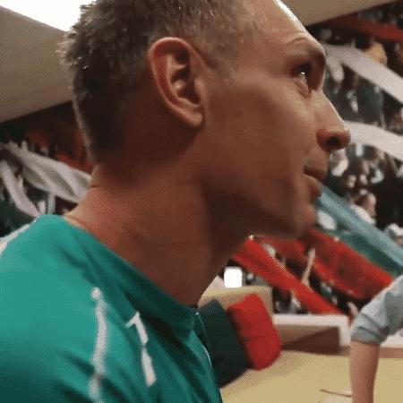 Fernando Prass recebe homenagem do Palmeiras - Reprodução/Twitter