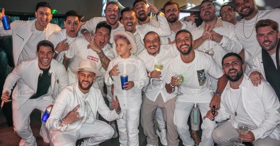 Neymar em sua festa de aniversário