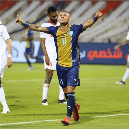 Neilton comemora gol pelo Hatta Club - Divulgação/Instagram