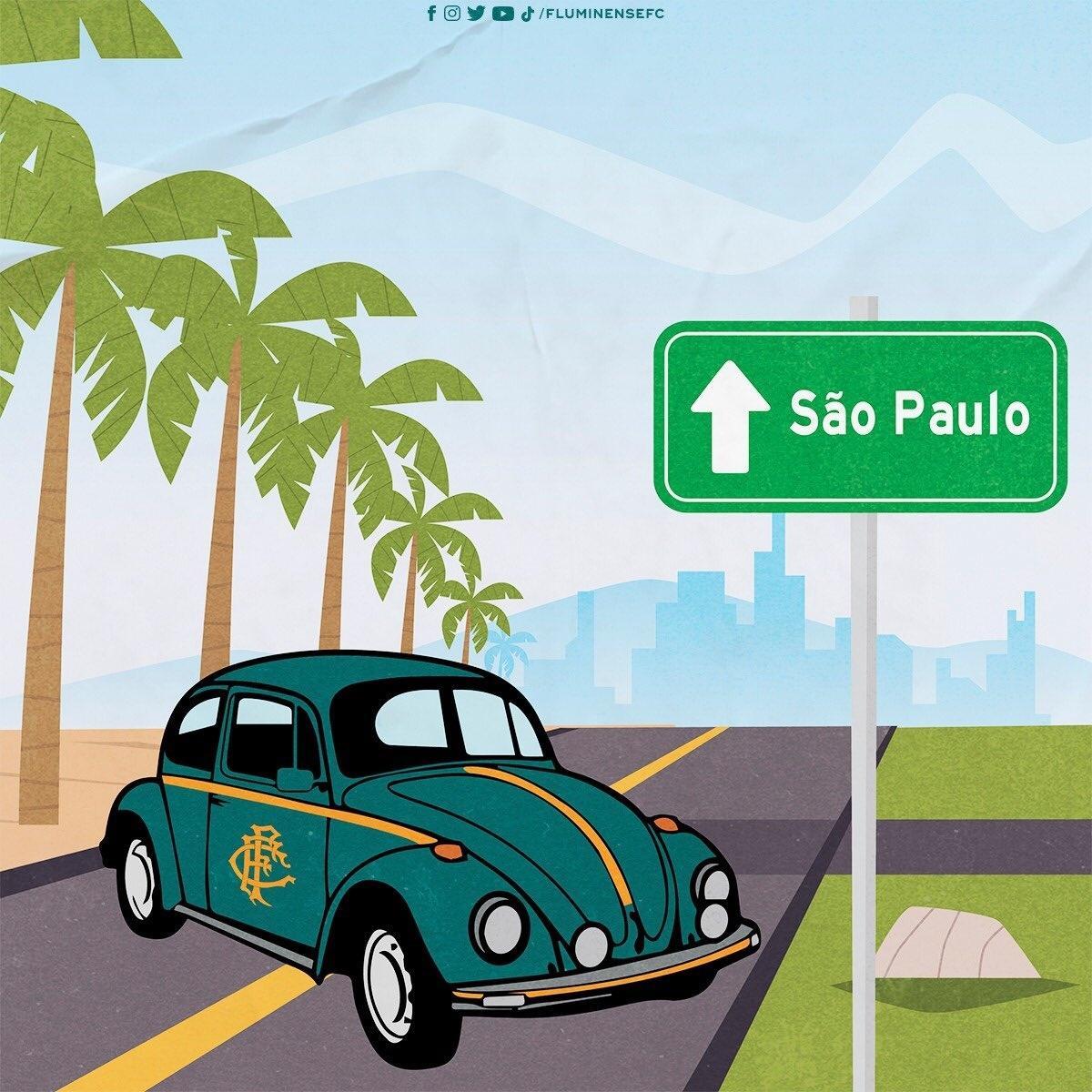 Flusquinha, em montagem criada pelo Fluminense nas redes sociais