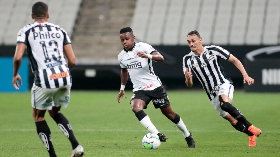 No primeiro turno, em Itaquera, Corinthians e Santos ficaram no empate em 1 a 1  - Rodrigo Coca/ Ag. Corinthians