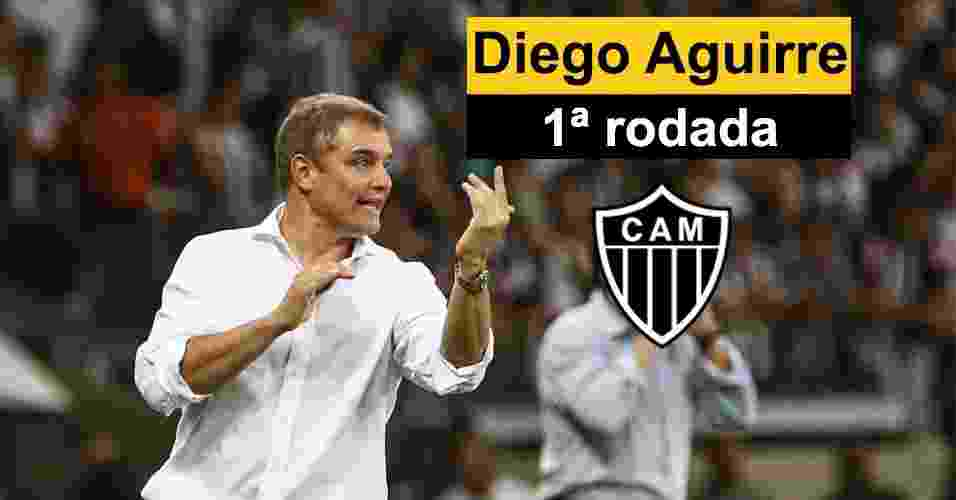 Montagem Diego Aguirre - Bruno Cantini/Atlético MG/Divulgação