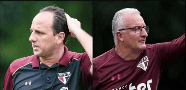 Rogério Ceni comandou o São Paulo 37 vezes, contra 36 de Dorival Júnior - Julia Chequer/Folhapress/Rubens Chiri/São Paulo FC