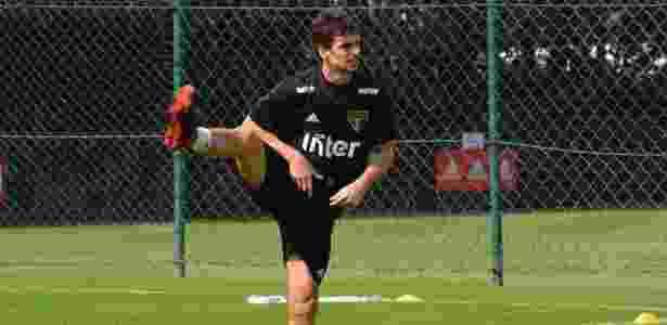 Rodrigo Caio participou do jogo-treino do São Paulo nesta segunda-feira, de manhã - Érico Leonan / saopaulofc.net