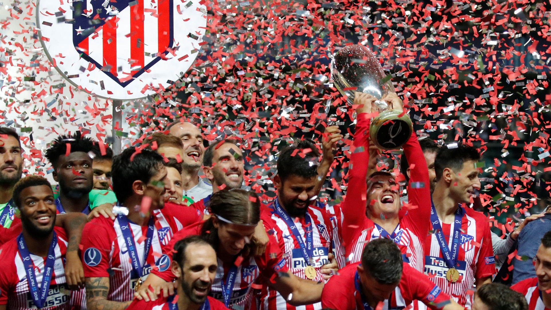Atlético de Madri venceu o Real Madrid na final da Supercopa da Europa