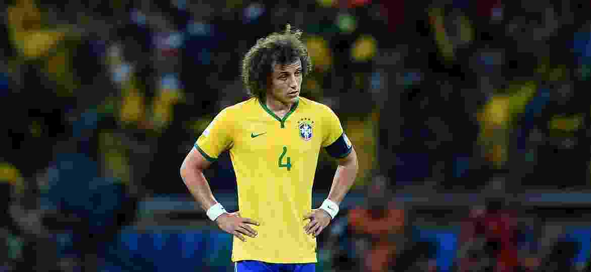 David Luiz na derrota do Brasil para a Alemanha - Laurence Griffiths/Getty Images
