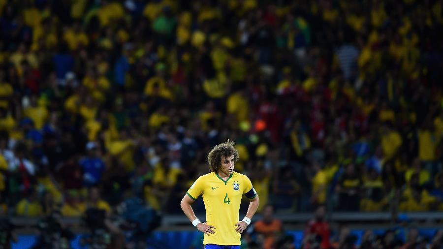 David Luiz lamenta derrota do Brasil para a Alemanha - Laurence Griffiths/Getty Images