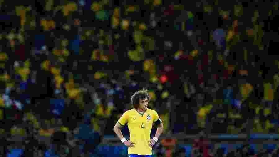 David Luiz na derrota do Brasil para a Alemanha - Laurence Griffiths/Getty Images