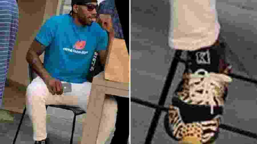 Kawhi Leonard usa tênis com estampa de animais - Reprodução/TMZ