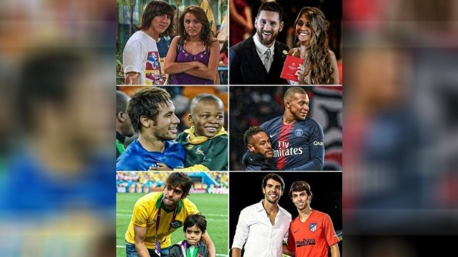 Messi fez Hannah Montana? Mbappé tietou Neymar na infância? Calma, é meme - reprodução/Instagram