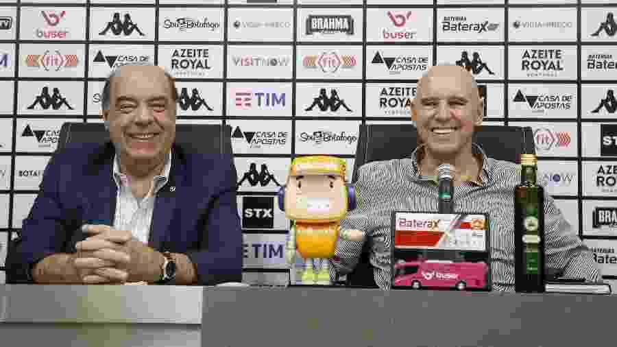 Nelson Mufarfej, presidente do Botafogo, e Valdir Espinosa, gerente de futebol - Vitor Silva/Botafogo