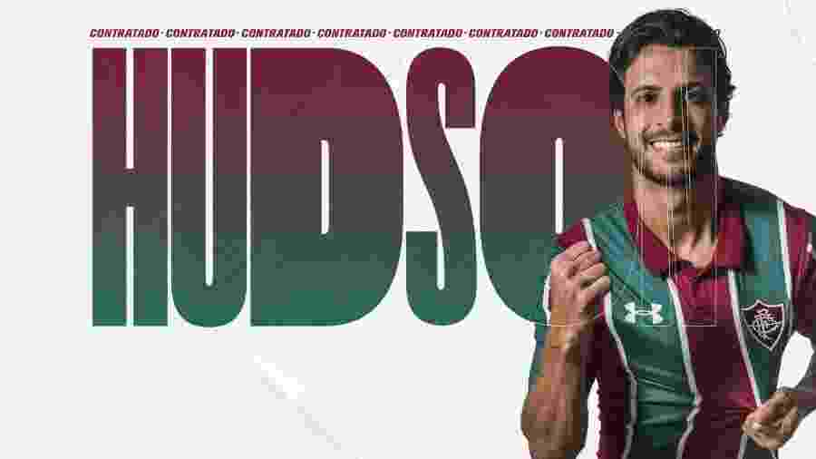 Hudson é o terceiro reforço anunciado pelo Fluminense no mercado da bola - Divulgação/Fluminense FC