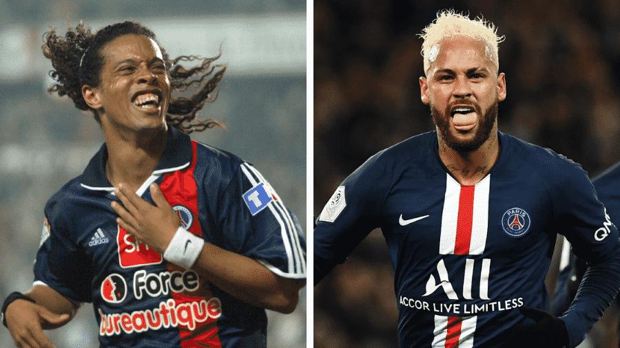 Ronaldinho ou Neymar: quem humilha mais? - Jacques Demarthon / AFP e Anne-Christine Poujoulat / AFP