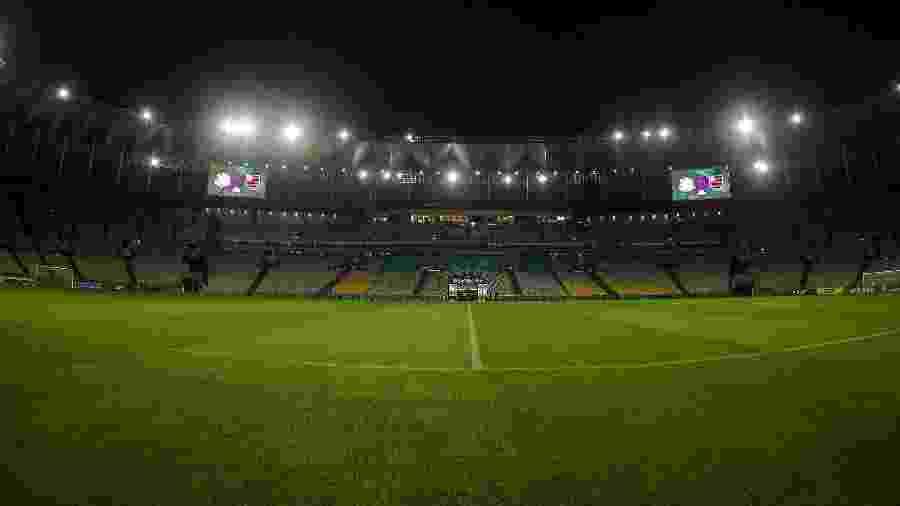 Maracanã vazio no retorno do Campeonato Carioca, que não será exibido pela Globo - Thiago Ribeiro/AGIF
