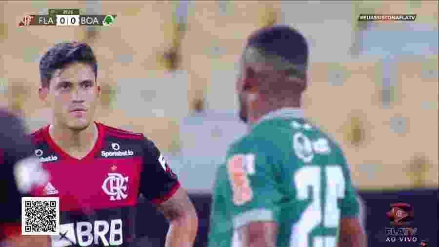 Atacante Pedro em Flamengo e Boavista, jogo com transmissão da FlaTV - Reprodução