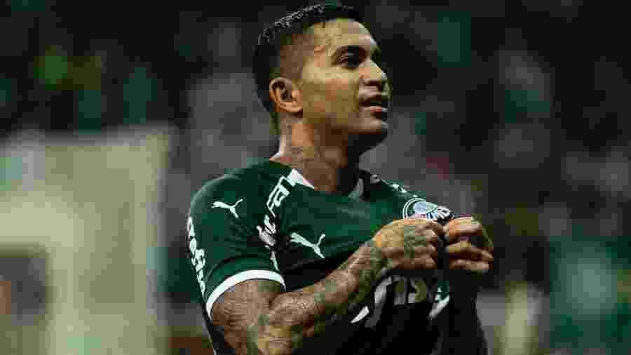 Dudu comemora gol pelo Palmeiras em jogo contra o Guarani, em fevereiro de 2020, no Allianz Parque - Daniel Vorley/AGIF
