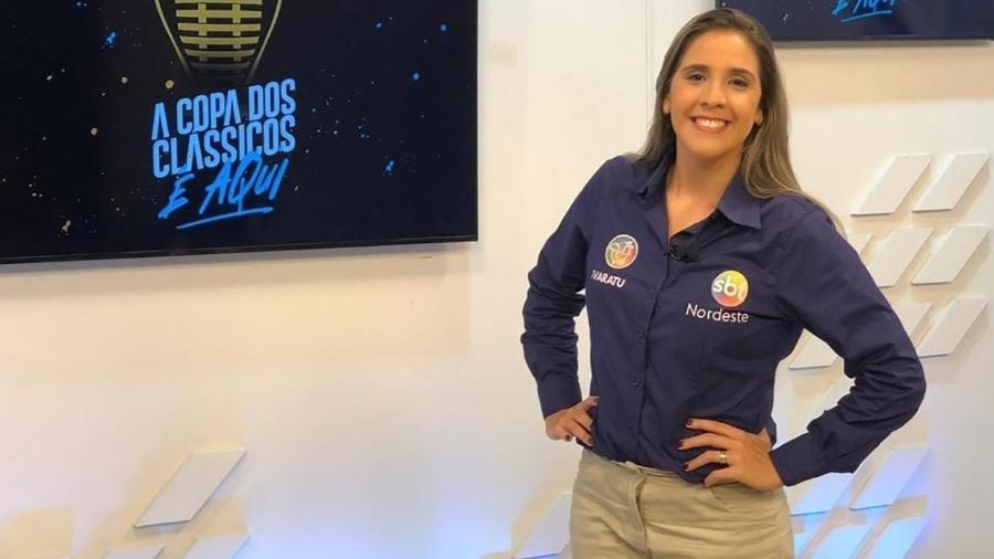 Manuela Avena, narradora que fez a final da Copa do Nordeste para a Bahia - Reprodução/Instagram