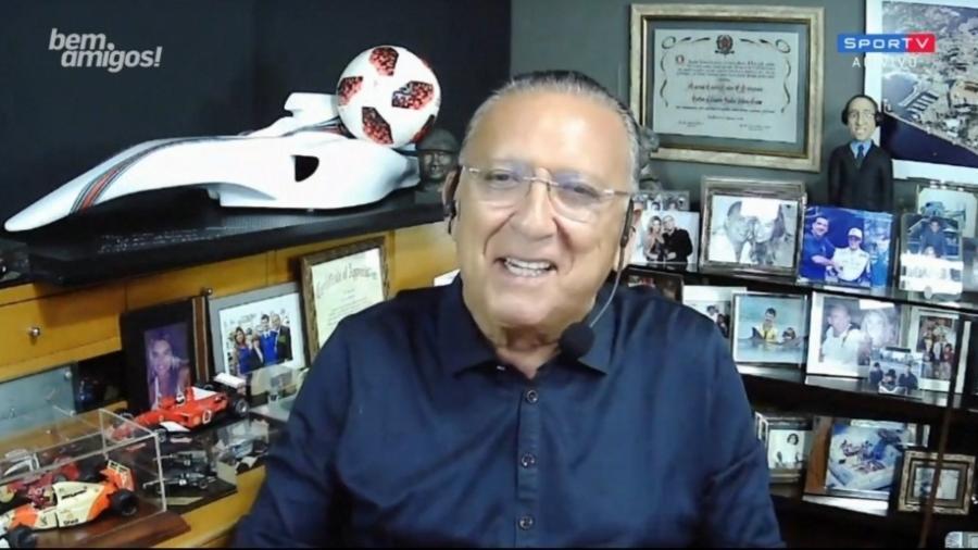Galvão Bueno  - Reprodução/SporTV
