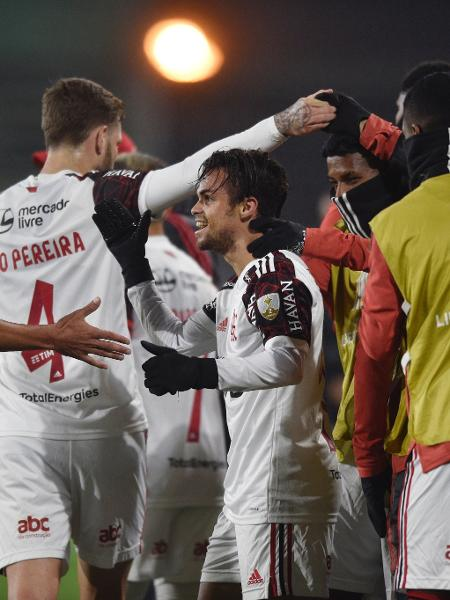 Michael comemora gol do Flamengo contra o Defensa y Justicia nas oitavas da Libertadores. Jogo da volta será exclusivo do Fox Sports - Florencio Varela/Getty Images