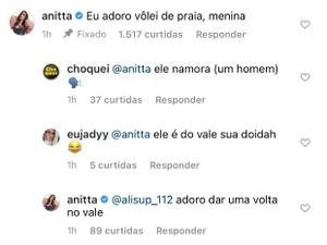 Anitta when she first became interested in Vinícius - Reproduction/Instagram - Reproduction/Instagram