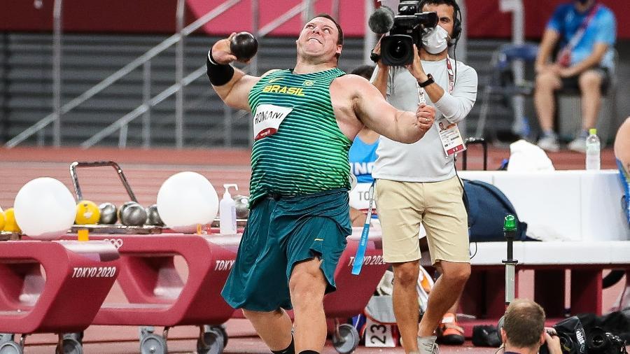 03.08.2021 - Jogos Olímpicos Tóquio 2020 - Atletismo masculino. Arremesso do peso. Na foto, o atleta Darlan Romani - Gaspar Nóbrega/COB/Gaspar Nóbrega/COB