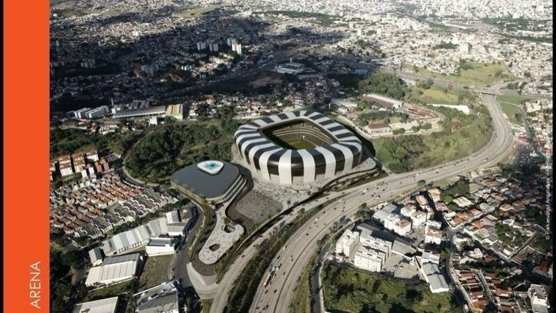 Imagem do projeto do estádio do Atlético-MG