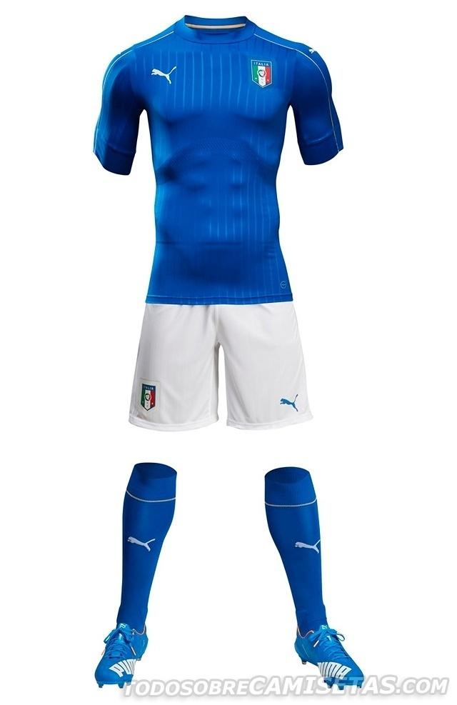 GRUPO E: Itália (camisa titular, Puma)