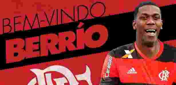 Flamengo divulga arte para anunciar contratação de Berrío - Divulgação/Flamengo - Divulgação/Flamengo