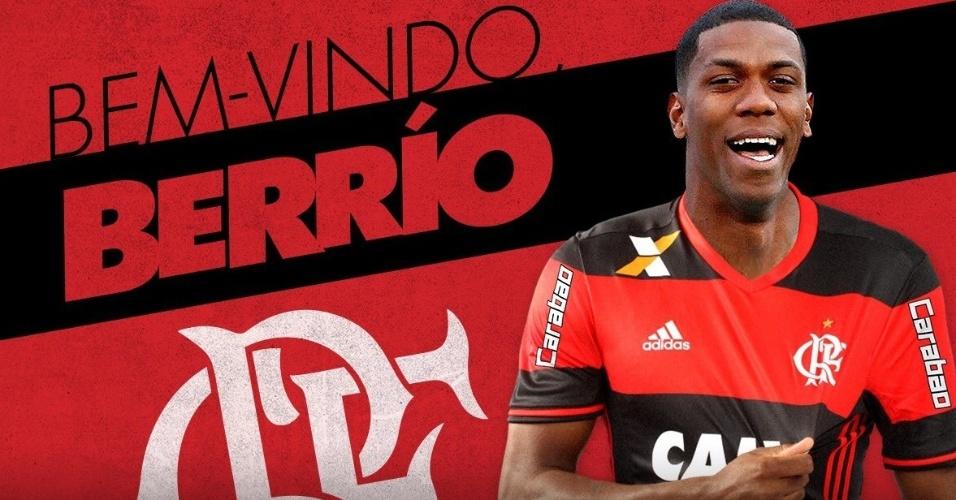 Flamengo divulga arte para anunciar contratação de Orlando Berrío