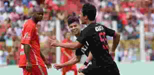 Matheus Anjos comemora gol marcado pelo Atlético-PR sobre o Rio Branco - Fabio Wosniak/CAP - Fabio Wosniak/CAP
