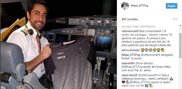 Comandante do voo que trouxe Atlético-MG de volta da Bolívia foi presenteado por Rafael Moura